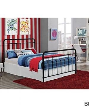 DHP Brooklyn Iron Bed With Headboard And Footboard Slats Included 0 0 300x360