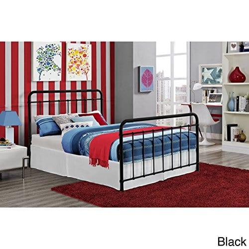 DHP Brooklyn Iron Bed With Headboard And Footboard Slats Included 0 0