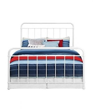 DHP Brooklyn Iron Bed With Headboard And Footboard Slats Included 0 2 300x360