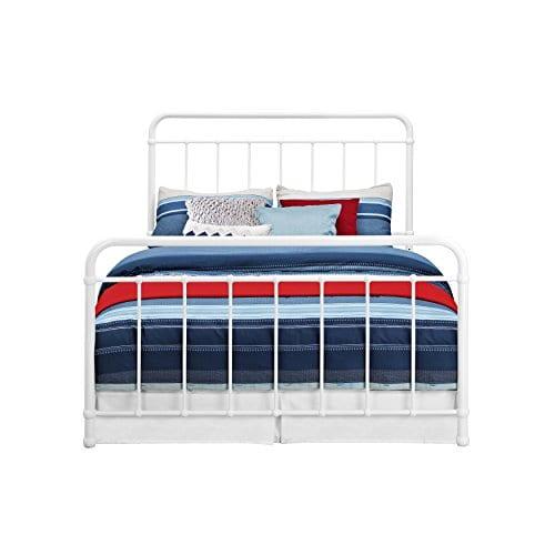 DHP Brooklyn Iron Bed With Headboard And Footboard Slats Included 0 2