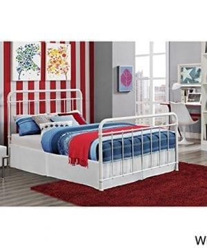 DHP Brooklyn Iron Bed With Headboard And Footboard Slats Included 0 300x360