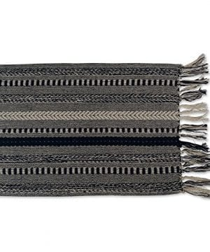 DII CAMZ38883 Stone Braided Stripe Table Runner 0 2 300x360