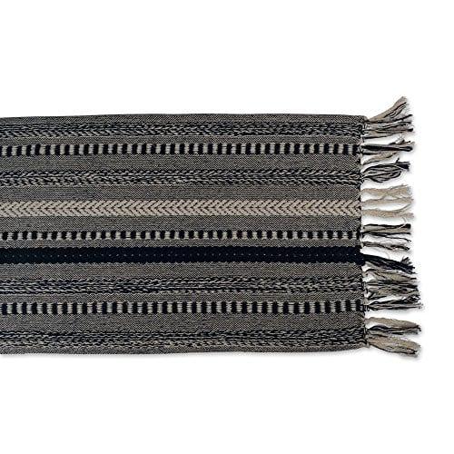DII CAMZ38883 Stone Braided Stripe Table Runner 0 2