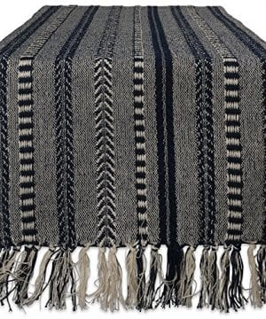 DII CAMZ38883 Stone Braided Stripe Table Runner 0 300x360