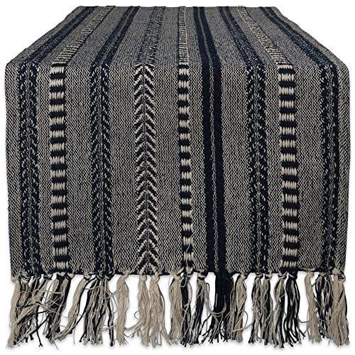 DII CAMZ38883 Stone Braided Stripe Table Runner 0