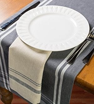 DII Cotton Woven Heavyweight Table Runner With Decorative Fringe For Spring Summer Family Dinners Outdoor Parties Everyday Use 0 2 300x333