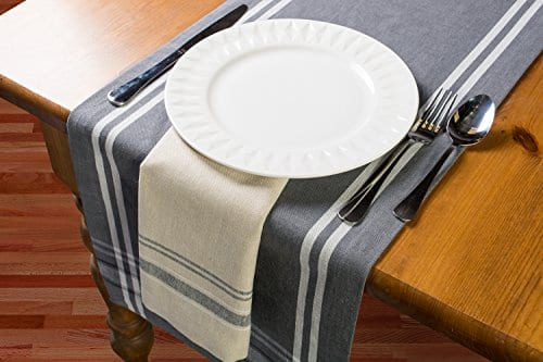 DII Cotton Woven Heavyweight Table Runner With Decorative Fringe For Spring Summer Family Dinners Outdoor Parties Everyday Use 0 2