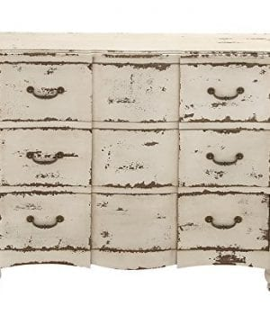 Deco 79 18174 Wood Drawers Chest 42 X 35 Ivory 0 1 300x360