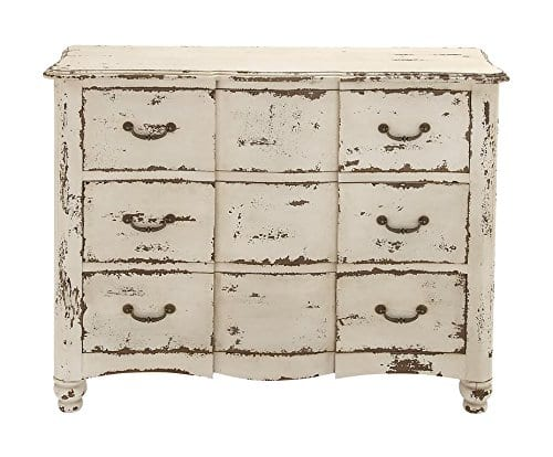 Deco 79 18174 Wood Drawers Chest 42 X 35 Ivory 0 1
