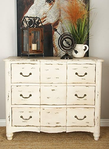 Deco 79 18174 Wood Drawers Chest 42 X 35 Ivory 0 2