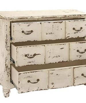 Deco 79 18174 Wood Drawers Chest 42 X 35 Ivory 0 300x360
