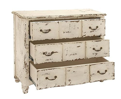 Deco 79 18174 Wood Drawers Chest 42 X 35 Ivory 0