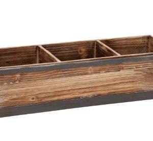 Deco 79 54419 Wood Metal Tray 22 W 8 H 0 300x276