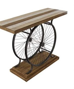 Deco 79 Metal And Wood Wheel Console BrownBlack 0 0 300x360