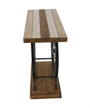 Deco 79 Metal And Wood Wheel Console BrownBlack 0 1 300x360