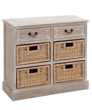 Deco 79 Wood 4 Basket Chest 0 0 300x360