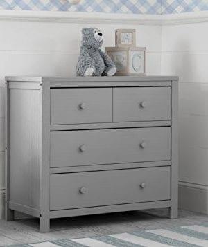 Delta Children Farmhouse 3 Drawer Dresser Rustic Haze Grey 0 0 300x357