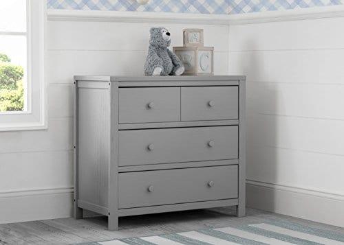 3 Drawer Dresser Rustic Haze Grey