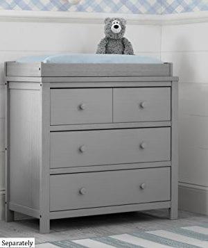 Delta Children Farmhouse 3 Drawer Dresser Rustic Haze Grey 0 1 300x357