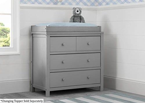 Delta Children Farmhouse 3 Drawer Dresser Rustic Haze Grey 0 1