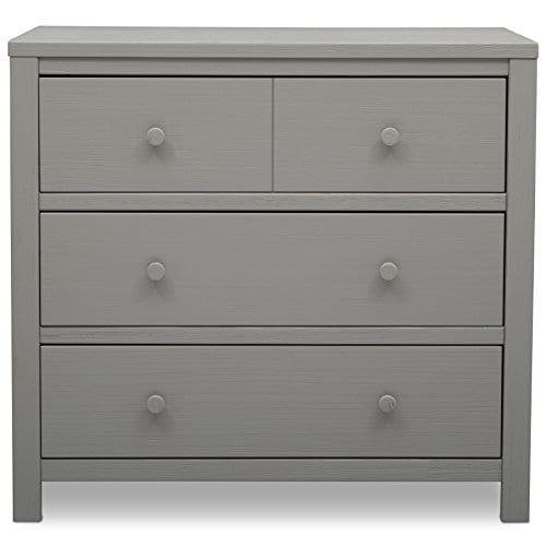 Delta Children Farmhouse 3 Drawer Dresser Rustic Haze Grey 0 2