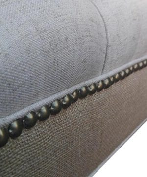 Design 59 Inc LARGE Tufted Ottoman Footstool Upholstered Coffee Table 46x24 0 0 300x360