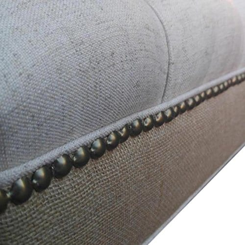 Design 59 Inc LARGE Tufted Ottoman Footstool Upholstered Coffee Table 46x24 0 0