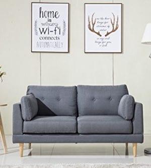Divano Roma Furniture Mid Century Modern Ultra Plush Linen Fabric Sofa 0 300x333