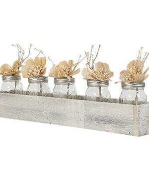 Drakestone Designs Wood Tray Centerpiece Box 24 Inch Handmade Rustic Reclaimed Wood 0 300x360