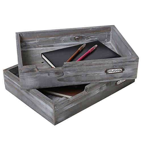 Drawer Style Stackable Wood Document Literature Tray Office Supplies Bin 0