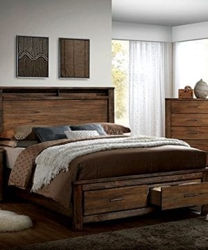 Elkton Oak Finish Queen Size 6-Piece Bedroom Set