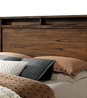 FA Furnishing Blake Rustic Storage Platform Queen Bed Oak Wood 0 1 300x338
