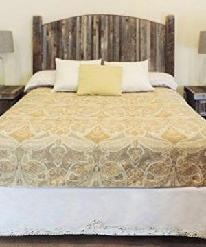 Farmhouse Style Arched King Bed Barn Wood Headboard WNarrow Rustic Reclaimed Wood Slats 0 0 300x360