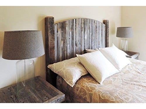 Farmhouse Style Arched King Bed Barn Wood Headboard WNarrow Rustic Reclaimed Wood Slats 0 1