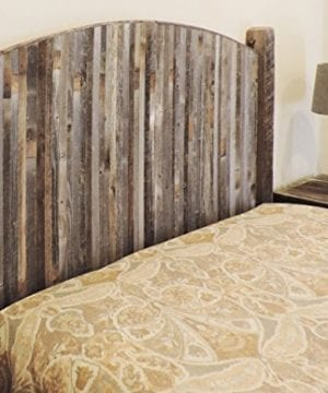 Farmhouse Style Arched King Bed Barn Wood Headboard WNarrow Rustic Reclaimed Wood Slats 0 2 300x360