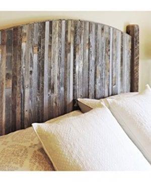 Farmhouse Style Arched King Bed Barn Wood Headboard WNarrow Rustic Reclaimed Wood Slats 0 300x360
