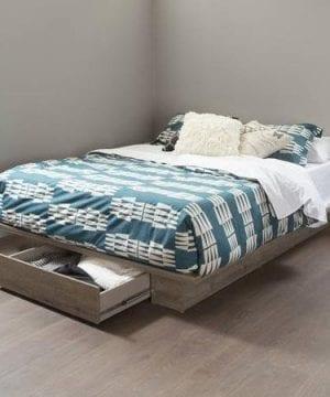 FullQueen Storage Platform Bed And Headboard Rustic Finish 0 0 300x360