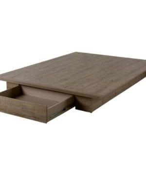 FullQueen Storage Platform Bed And Headboard Rustic Finish 0 2 300x360