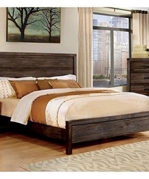 Furniture Of America Bahlmer Queen Platform Bed In Dark Gray 0 300x360