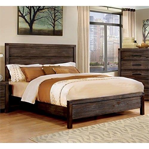 Furniture Of America Bahlmer Queen Platform Bed In Dark Gray 0