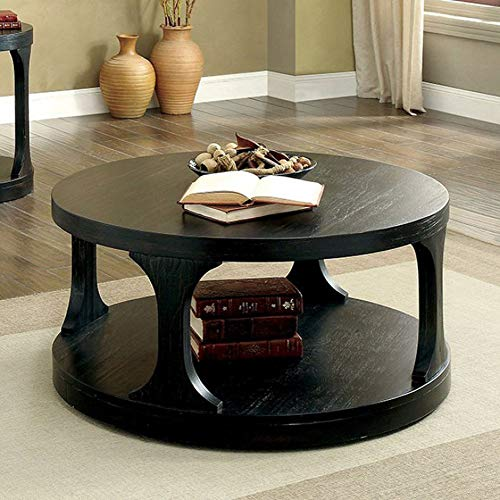 Furniture Of America CM4422C Carrie Antique Black Coffee Tables 0
