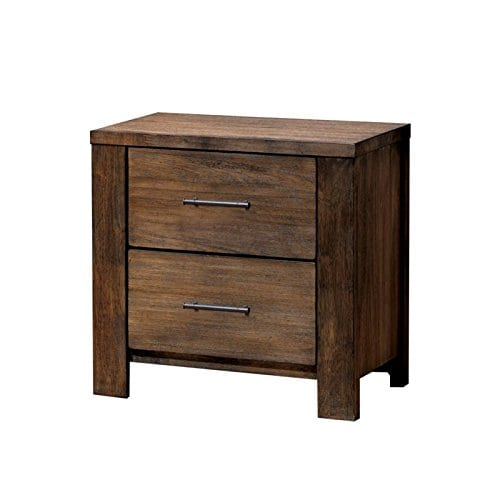 Furniture Of America Nangetti Rustic 2 Piece Queen Bedroom Set In Oak 0 1