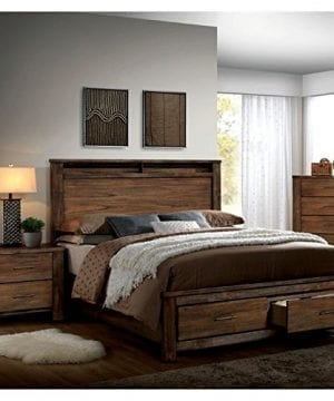 Furniture Of America Nangetti Rustic 2 Piece Queen Bedroom Set In Oak 0 300x360