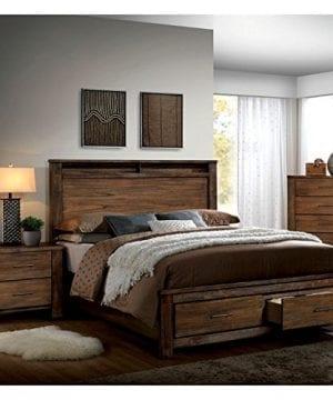 Furniture Of America Nangetti Rustic 3 Piece Queen Bedroom Set In Oak 0 300x360