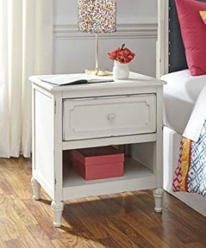 FurnitureMaxx Haslev Chipped White Wood Twin Bed Dresser Mirror 2 Nightstands 0 2 300x360