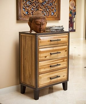 Glendora Rustic Natural Stained Acacia Wood Chest Nightstand 0 300x360