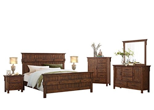 HEFX Thomasville Rustic Burnished Oak California King Bedroom Set 0