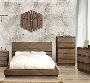 HOMES Inside Out IDF 7623Q Leisa Bedell Rustic Natural Tone Low Profile Bed Queen 0 0 300x276
