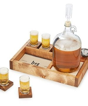 Handcrafted Small Batch Beer Making Home Brewing Kit With Coasters And Sampler Glasses 0 300x360