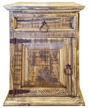 Handscrape Rustic Western Country Nightstand End Table Already Assembled 0 300x360
